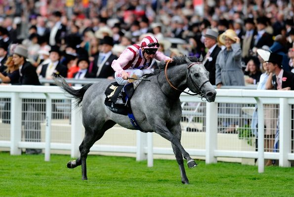 Adam Kirby riding Lethal Force lands the Diamond Jubilee Stakes during day five of Royal Ascot at Ascot Racecourse on June 22, 2013 in Ascot, England. (Photo by Alan Crowhurst/Getty Images for Ascot Racecourse)
