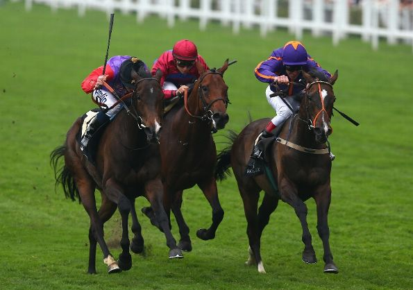 Ryan Moore rides Estimate (L) owned by Queen Elizabeth 2nd on his way to winning The Gold Cup on Ladies' Day during day three of Royal Ascot at Ascot Racecourse on June 20, 2013 in Ascot, England. (Photo by Paul Gilham/Getty Images)